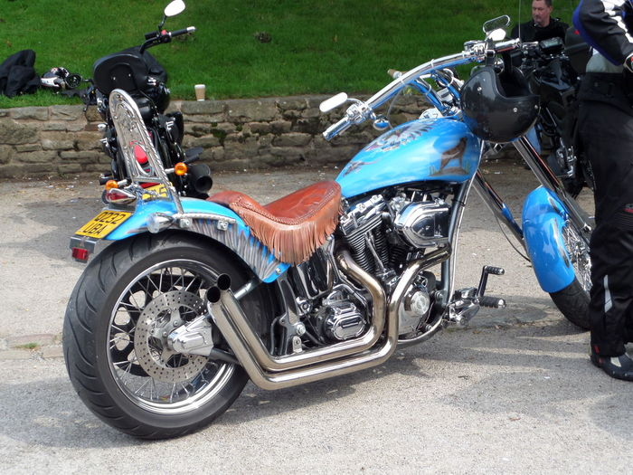 Blue Motorcycle Blue. Collector. Custom Motorcycle. Day Engine Hobby.... Land Vehicle Leisure Activity Lifestyles Metallic Mode Of Transport Motorcycle No People Outdoors Parked Stationary Transportation Weekend Wheel