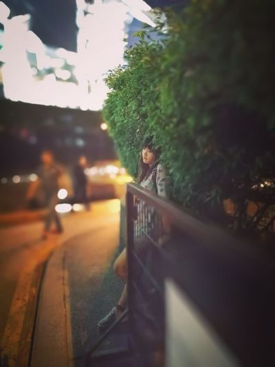 On the way to party Alone LINE Garden Cityscape City Life Building Blur Bokeh Night Nightlife Young Women Beautiful Woman Asian Girl Pretty Girl Sexygirl Dark Walkway Pathway Waiting Lowlight HUAWEI Photo Award: After Dark Tree City Pretty Thinking