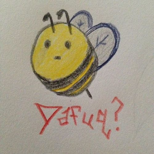 """Randomness. I'm not sure what made me think """"bees."""" Someone go get this as a tattoo. Tattoo Tattooideas Random Bees Bee Dafuq WTF Whoknows Drawing Doodles Doodling Bored Follow4follow Followme Simple Quick"""