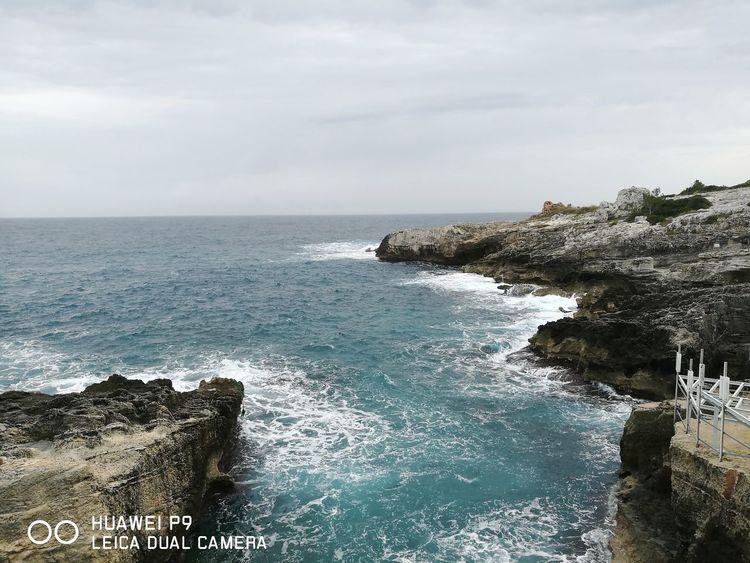 Italy Salento Sea Sky No People Nature Nofilter Leica Huawei P9 Oo