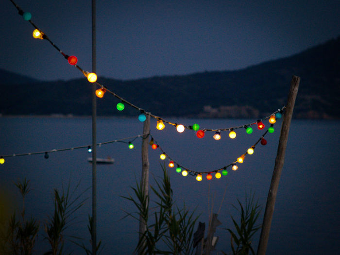 Beach Party Celebration Colored Lights Dusk Fairy Lights Greek Night Halkidiki,Greece Illuminated Night No People Outdoors Party Time Party Tonight Sky Fresh On Market 2017