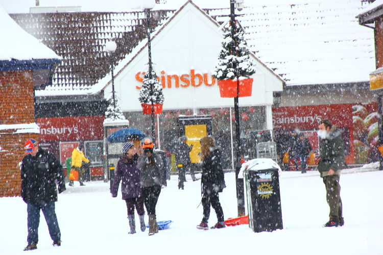 Snowy day at