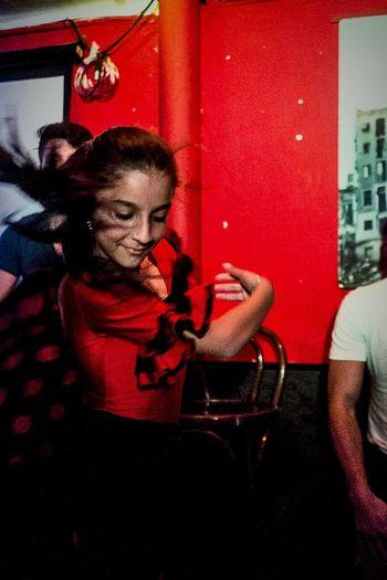 Dancing portrait of Alicia Color Red Dancing Esmeralda And Alicia Dosta! Movement