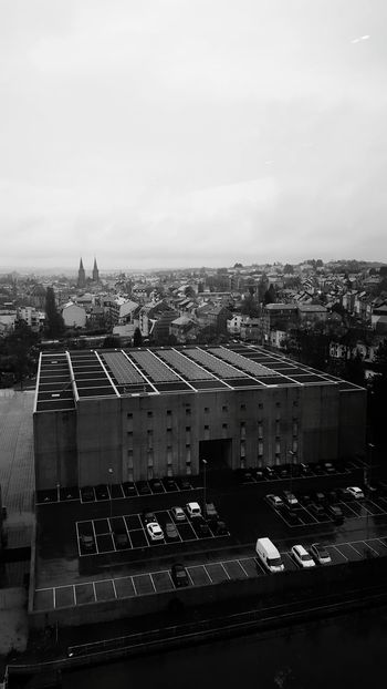Dudelange Sky And City Vue Du Ciel Blackandwhite Photography Visions Of Emptyness Empty Places Architecture Parking Lot City Life From My Point Of View Lookingdown Through The Window Discover Luxembourg Discover Your City Luxembourg