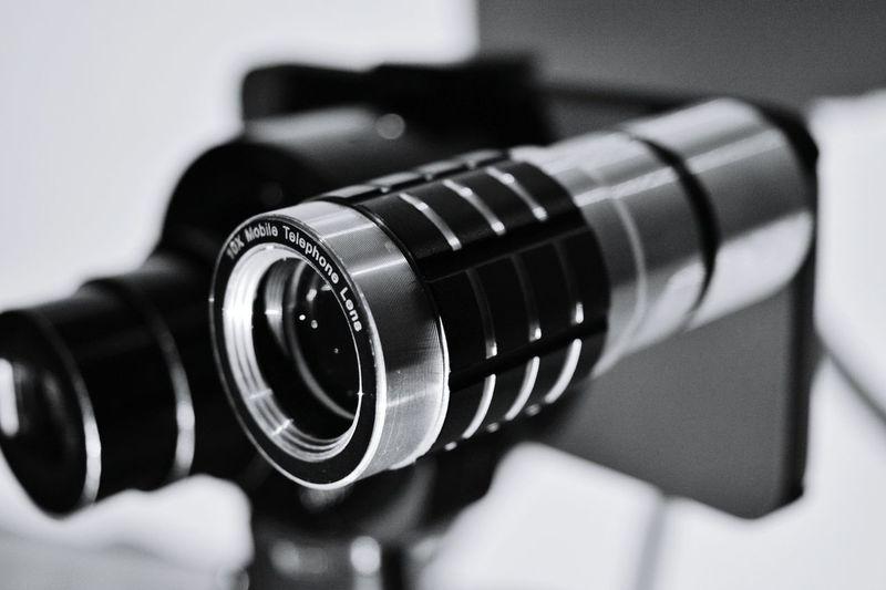 Close-Up Of Camera In Photo Studio