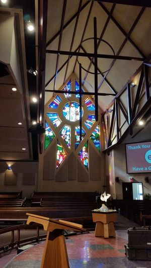 Architecture Ceiling Flower Mound, Texas Illuminated Indoors  Lighting Equipment No People Sanctuary  United Methodist Church