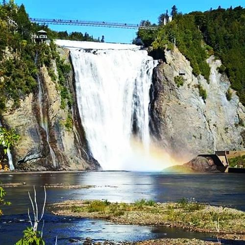 Water Waterfall Nature Beauty In Nature Travel Long Exposure Sky River Quebec Quebec City Quebec, Canada Quebeccity Quebecjetaime Quebectourism Quebecfalls Lovecanada Nature Nature Photography Naturelovers Nature_perfection Naturephotography Natural Beauty