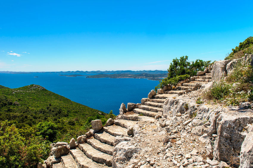 Beautiful nature landscape view from St. Michael Fortress in Croatia Castle Croatia Nature Ruins Stairs Steps Zadar Zadar,Croatia Ancient Architecture Beauty In Nature Day Fortification Fortified Wall Fortress Fortress Wall History Landscape Nature Outdoors Scenics Sea St. Michael Staircase Steps And Staircases Summer