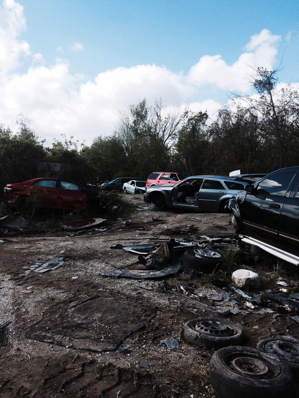 car, abandoned, destruction, damaged, obsolete, garbage, desolate, no people, sky, cloud - sky, bad condition, day, outdoors, bleak, tornado