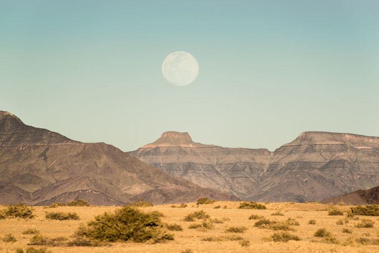 Moon Landscape Full Moon Moon Namib Desert Namibia Arid Climate Astronomy Beauty In Nature Desert Desert Beauty Environment Formation Full Moon Land Landscape Moon Moon_collection Mountain Mountain Range Nature No People Outdoors Scenics - Nature Sky Tranquil Scene Tranquility