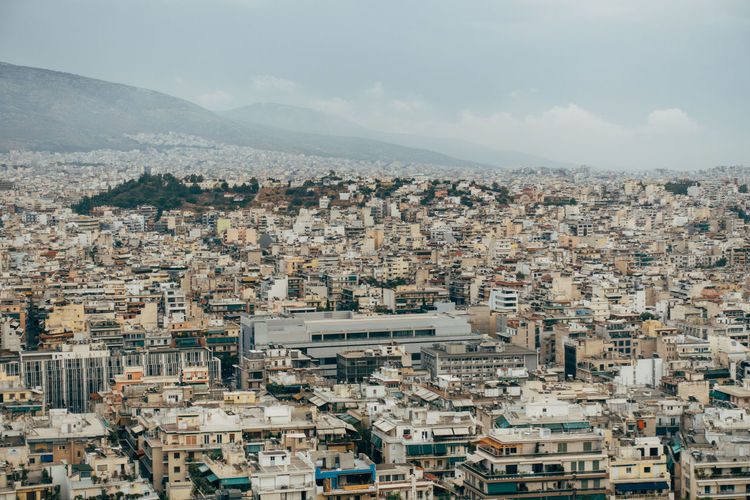 City panorama of athens