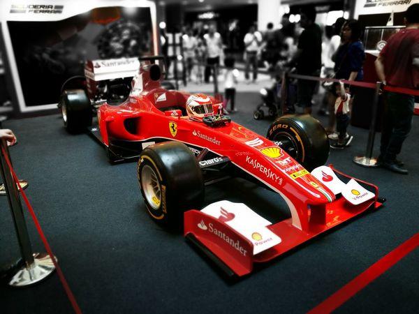 Formula 1 Scuderia Ferrari Vibrant Color Red RaceForLife Santander