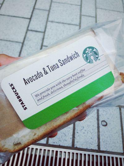Summer Starbucks 夏 スタバ アボガド Sandwich サンドイッチ