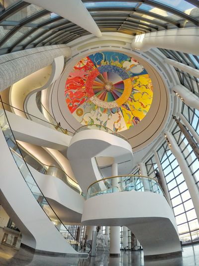 The Morning Star Canadian Museum Of History Alex Janvier The Morning Star Ottawa Canada Indoors  Architecture Low Angle View Religion Built Structure Dome Day