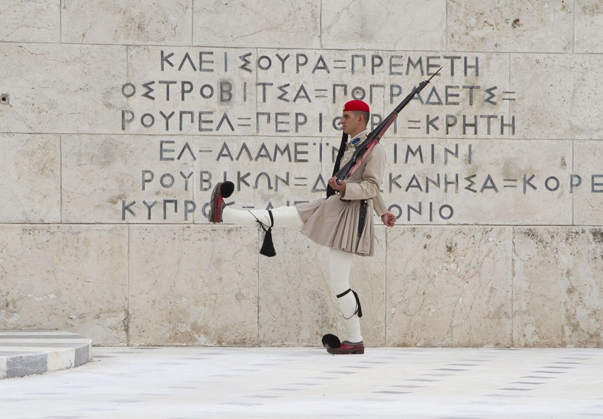 Athens Athens, Greece Athens City Guard Guardian Evzones Changing The Guard Clothes Costume Traditional Clothing Secure Security Greek Tomb Of The Unknown Soldier Syntagma Square