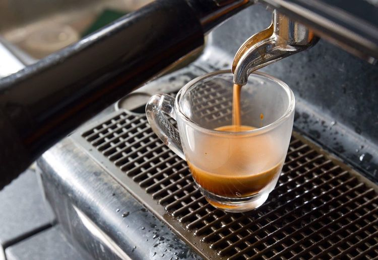 Espresso Drink Refreshment Food And Drink No People Close-up Metal Freshness Focus On Foreground Indoors  Day