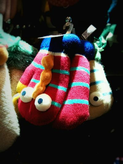 Cotton Colourful Gloves Warm Feeling For Kids Funny Cartoon Childishness Always Have Fun! Life Is To Short! Around Me. to be an interesting people. Friday ✌
