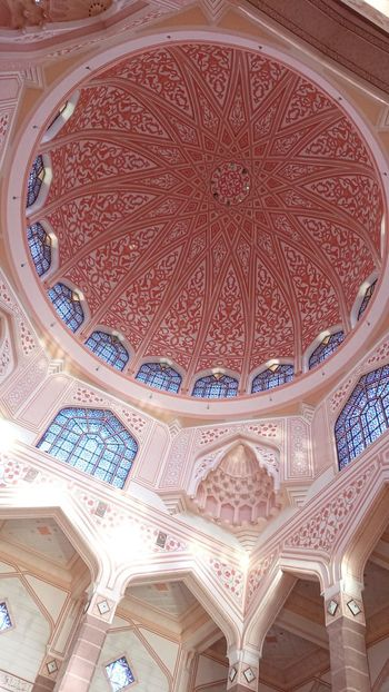 pink mosque Pink Pink Color Pattern, Texture, Shape And Form Beautiful ♥ Colorful Colors Beautiful View Tranquility Color Photography Viaje Travel Eye For Photography EyeEm Best Shots Enjoying The View Backgrounds Full Frame Pattern Ceiling Design Architecture Close-up Architecture And Art Mosaic Mosque Decorative Art Floral Pattern Stained Glass Architectural Detail Painted Image Seamless Pattern
