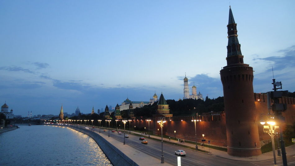 Kremlin view at nightfall Kremlin Architecture Russia Moscow City Quiet Architecture Night View Nightfall Politics And Government Travel Destinations