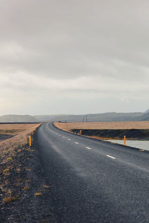 Long road in iceland Road Trip Adventure Feel The Journey Traveling Iceland Nature Landscape Road Route Travel