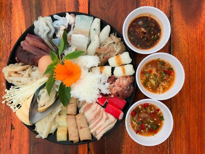Thai food hotpot