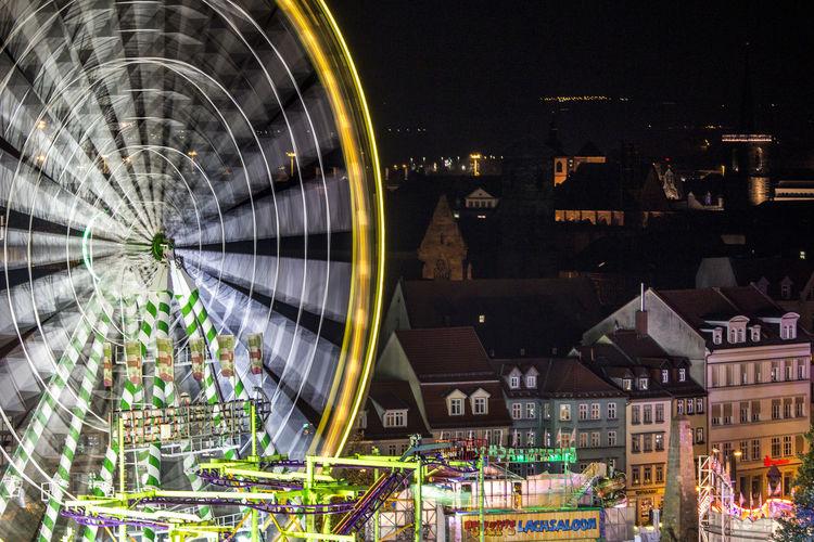 Oktoberfest Erfurt 2017 Domplatz / Erfurt Night Ferris Wheel Amusement Park Arts Culture And Entertainment Illuminated Amusement Park Ride Outdoors No People Building Exterior Cityscape Sky Canon700D Eefurt 2017