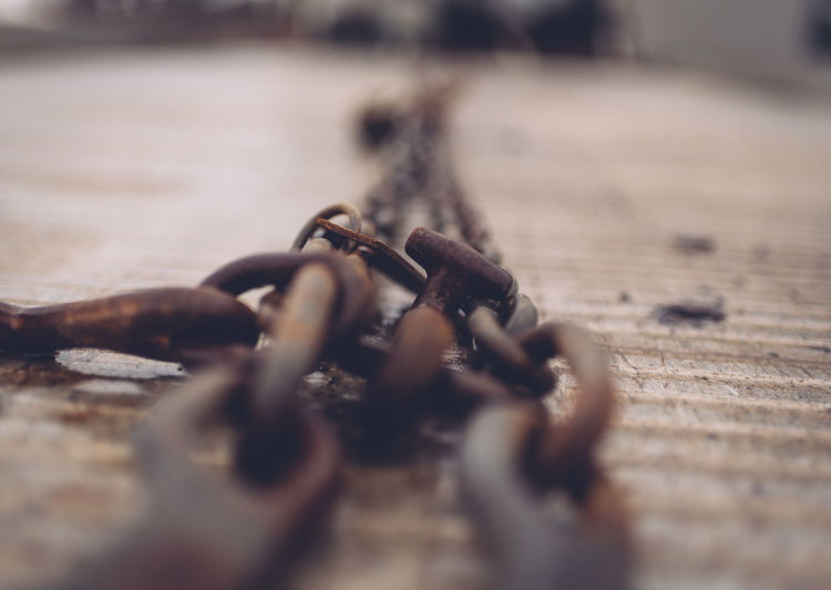 Close-Up Of Rusty Chain