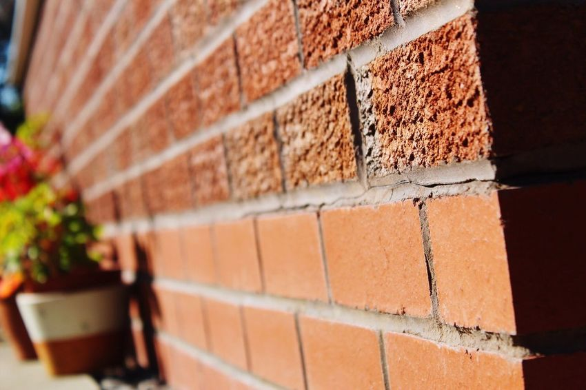 EyeEm Selects Backgrounds Brick Wall Built Structure Building Exterior Architecture No People Outdoors Day Brown Red Close-up