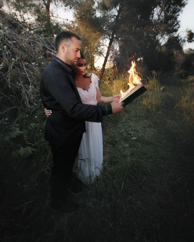 Place your past into a book , burn the pages let them cook. Eyestoriestudio The Human Condition Portrait Popular Wedding Day Wedding Photography Weddings Around The World Color Portrait Pepole Fire EyeEm Best Shots Forest