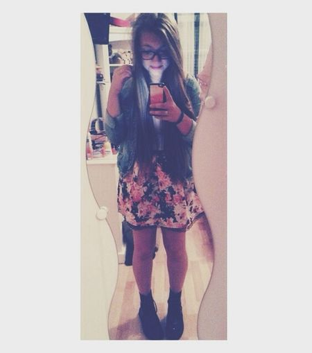 ? Ootd Flowers Dress Jean Vest Hi!
