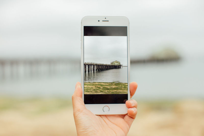 IPhone Picture Of A Picture Pier Seaside Technology Framed Frame Beach California Travel