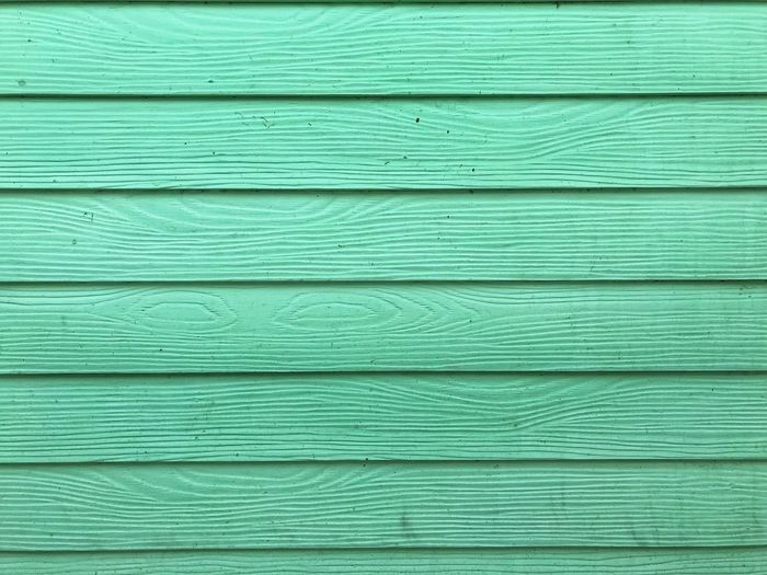 Full frame shot of turquoise wooden wall