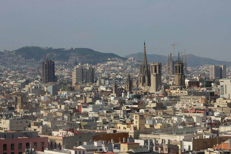 Barcelona on a sunny day Barcelona Spain♥ birdseyeview