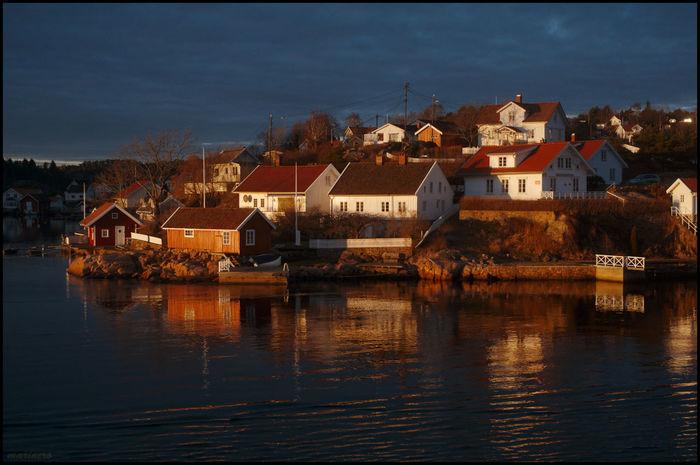 Landscape Sunset Norway Sea