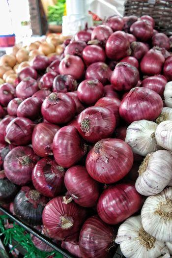 Close-Up Of Vegetables At Market For Sale