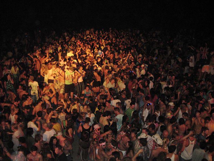 Festival Season Fullmoonparty Beachparty Dance Drunk Concert Edm Bikini Party LiveMusic Festival Koh Phangan Thailand Beachlife Celebration Outdoors