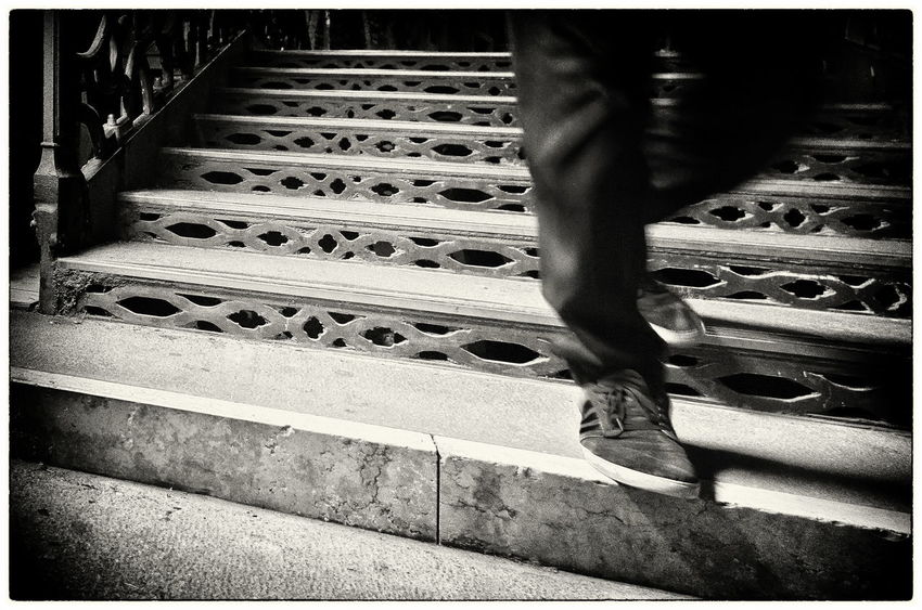 Stairs Venice, Italy Bw Low Section Men One Person Real People Streetphotography