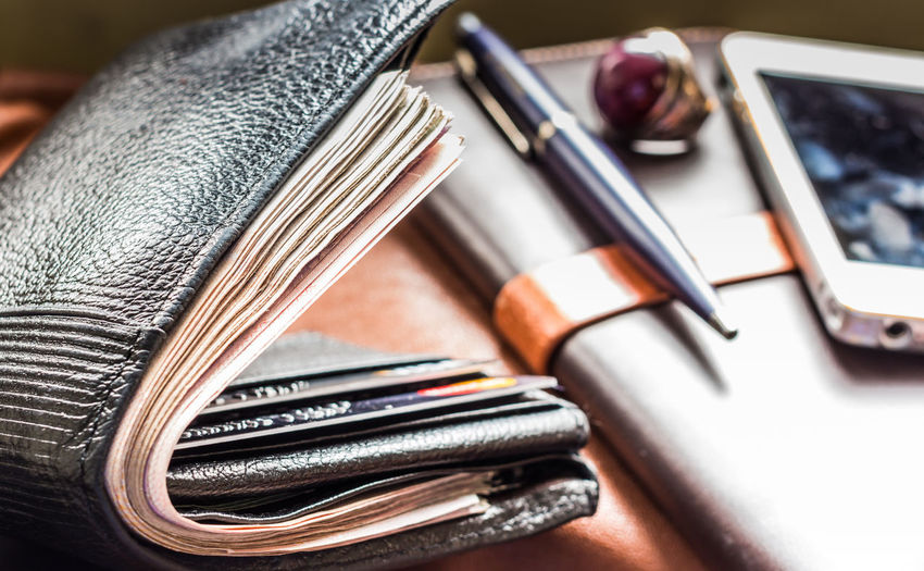 Accessories Arrangement Bank Business Businessman Card Creativity Credit Fashion Finance Financial Large Group Of Objects Male Manager Mobile Phone Money Pen Phone Pocket Full Money Rich Selective Focus Set Smart Tools Wallet