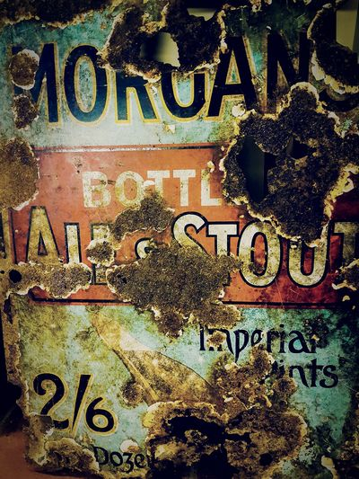 Old Sign Rust Rustic Style Rusty Metal Rusty Art Rusty Surface Stout