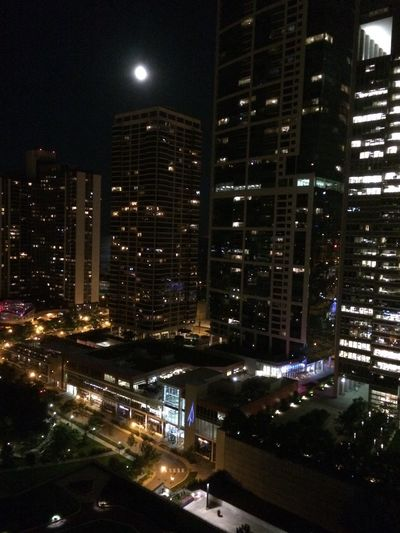 Urban Cityscapes Highrises Moon