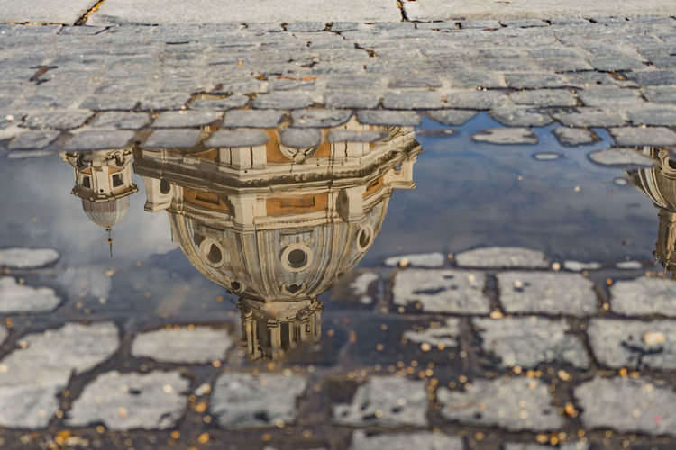 Reflection of dome in water
