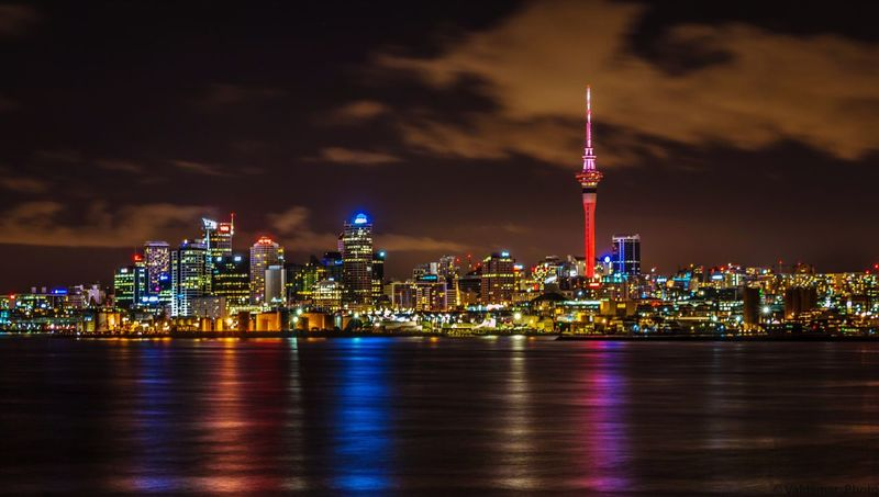 Auckland city Architecture Tall - High Building Exterior Built Structure Night Illuminated Travel Destinations Tower Skyscraper Sky City Spire  Cityscape No People Modern Tourism Urban Skyline Outdoors Travel Cloud - Sky Investing In Quality Of Life