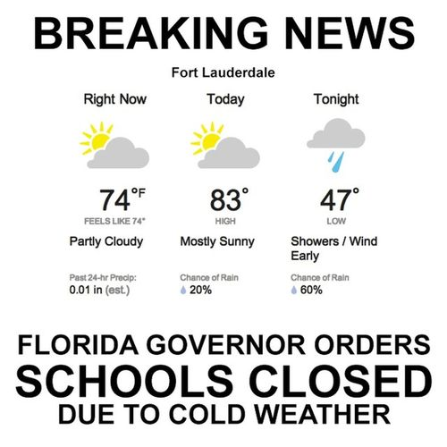 I love making fun of my freezing friends in the rest of the country! Floridaapocalypse LoveFl Openthewindows