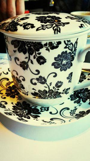 Lunch Tea TeaCup Flower Pattern