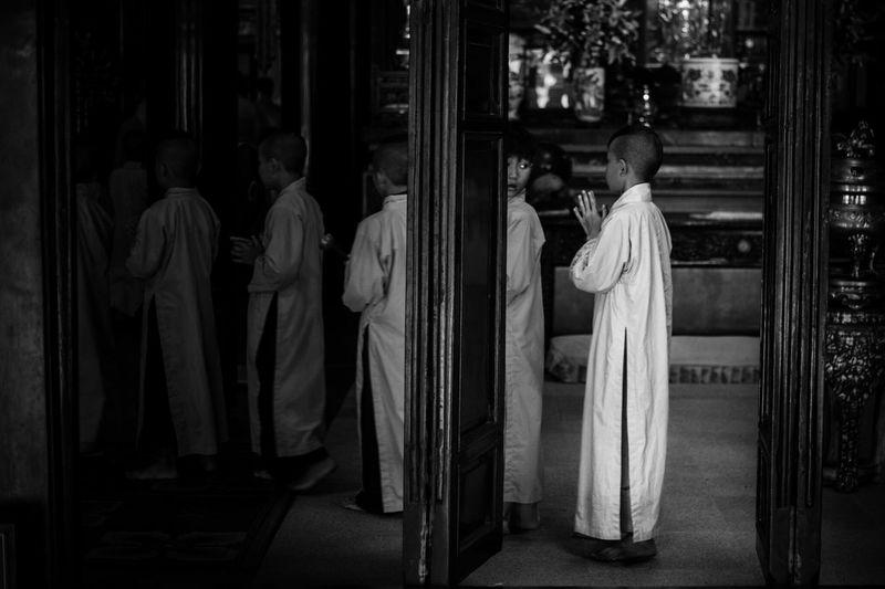 Men in temple