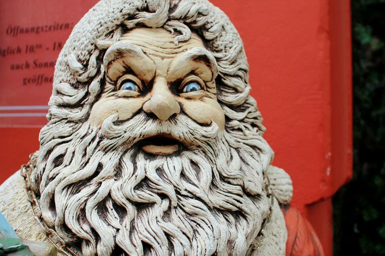 Santa Badsanta Surprised Santaclaus NewYear Cristmas Amazing Winter Hollidays Sculpture Angry