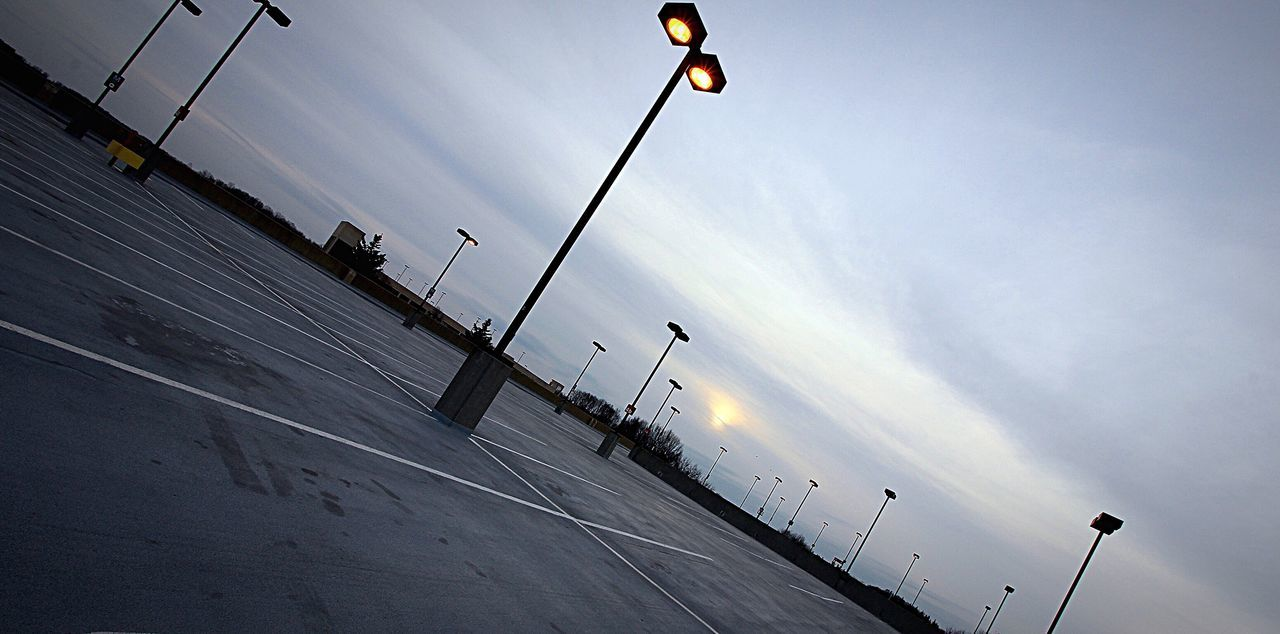 street light, low angle view, sky, outdoors, cloud - sky, day, no people, nature
