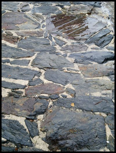 Background Cracked Day Dia Lluvioso Empedrado Floor Full Frame Lluvia Nature No People Outdoors Pattern Paved Pie Puerto Rico Rain Rainy Days Stone Sue Textured  Water