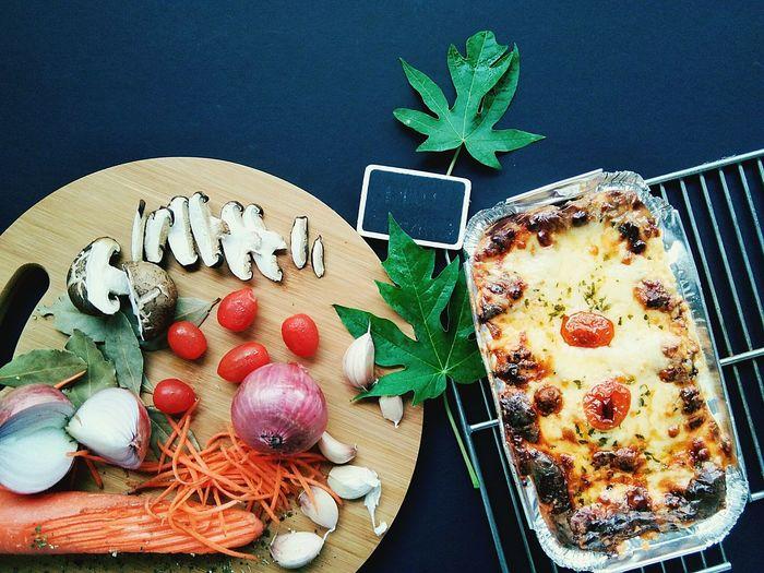 #lasagna cheesy meaty yummy Kuala Lumpur Fresh Vegetable Beeflasagna Chickenlasagna Homecooking Homecooked Lasagna Leaf Table Close-up Food And Drink Plant