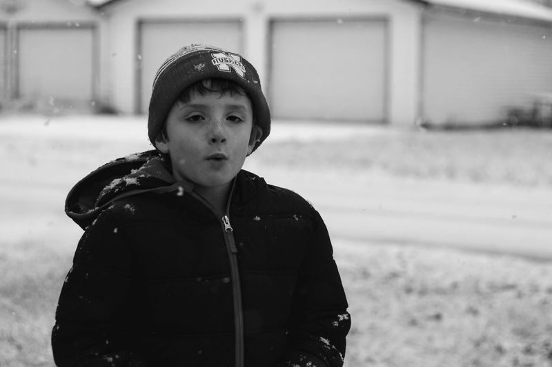 Visual Journal December 3, 2016 Western, Nebraska (Fujifilm Xt1,Canon FD 50mm f/1.8 ) edited with Google Photos. A Day In The Life B&W Collection Camera Work Everyday Lives Eye For Photography EyeEm Best Shots FUJIFILM X-T1 Kids Being Kids Lifestyles Looking At Camera Manual Focus Manual Mode Photography Nifty Fifty Photo Diary Photography Portrait Real People Rural America Small Town Stories Visual Journal Winter Winter